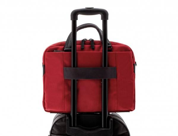 men laptop briefbag red trolley