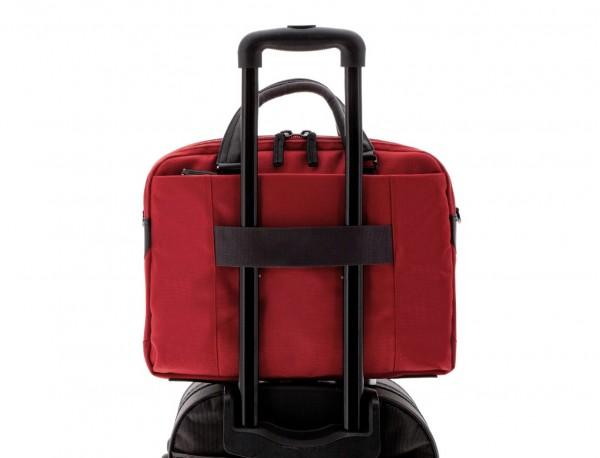 Cartella 2 scomparti per laptop rosso trolley