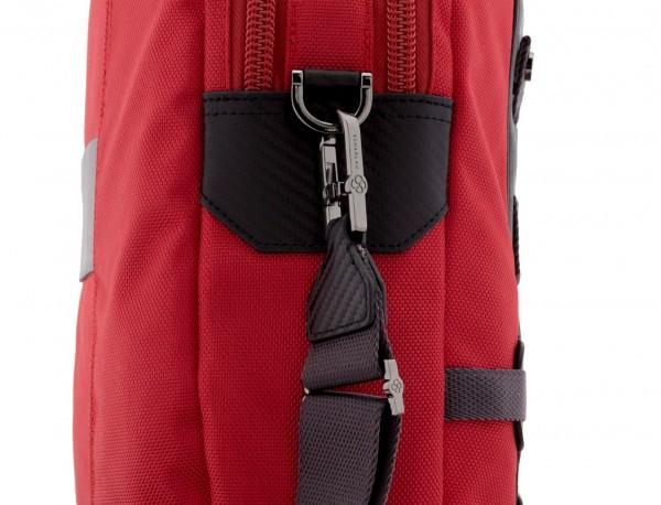 Cartella 2 scomparti per laptop rosso strap
