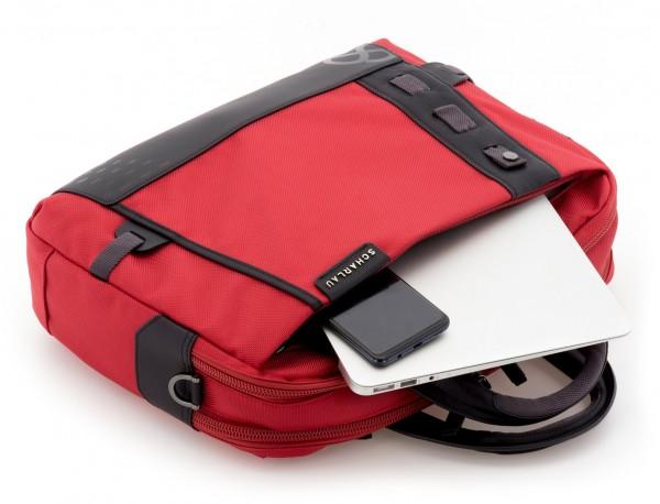 Cartella 2 scomparti per laptop rosso  inside