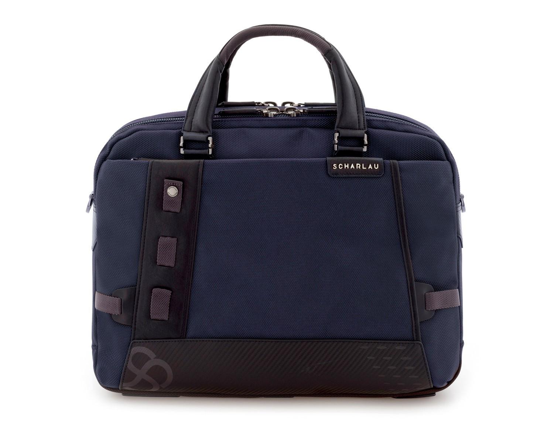 maletín de hombre azul frontal