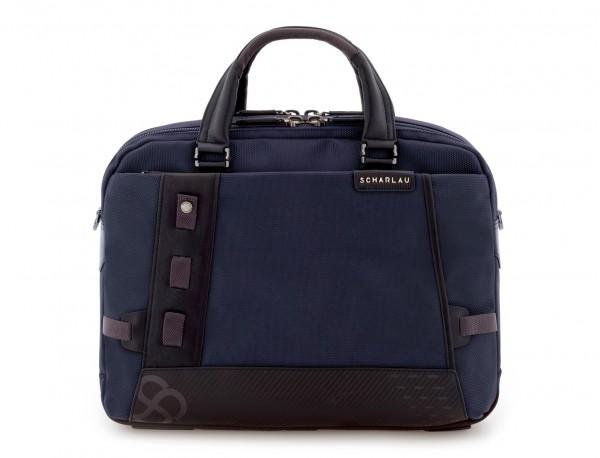 Cartella 2 scomparti per laptop blu front