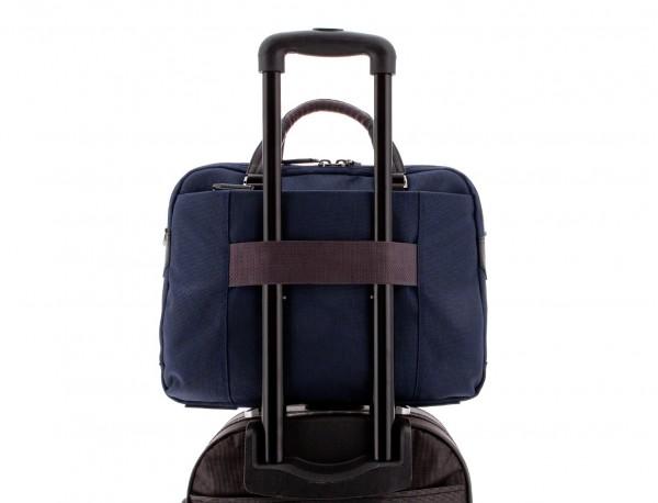 Cartella 2 scomparti per laptop blu trolley