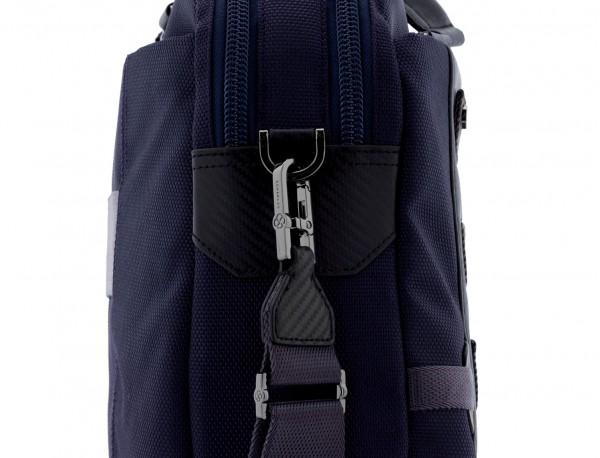 Cartella 2 scomparti per laptop blu strap