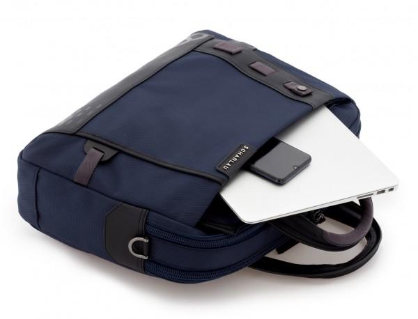 Cartella 2 scomparti per laptop blu  detail
