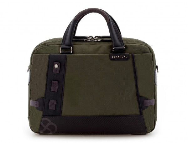 men laptop briefbag green front