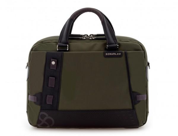 maletín de hombre verde frontal