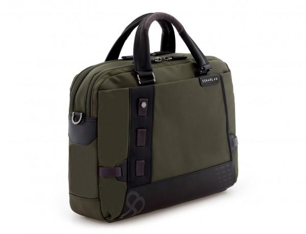 men laptop briefbag green side