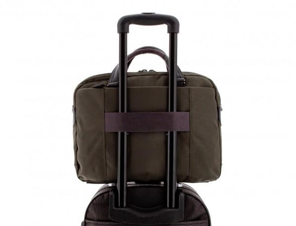 men laptop briefbag green trolley