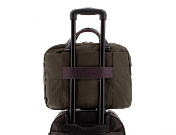 maletín de hombre verde trolley