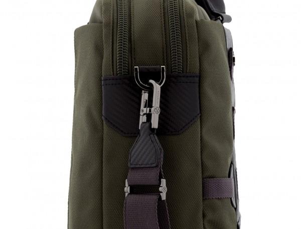 men laptop briefbag green strap