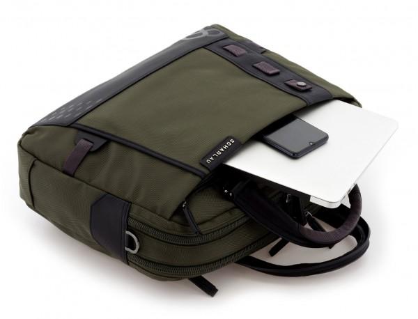 men laptop briefbag green computer