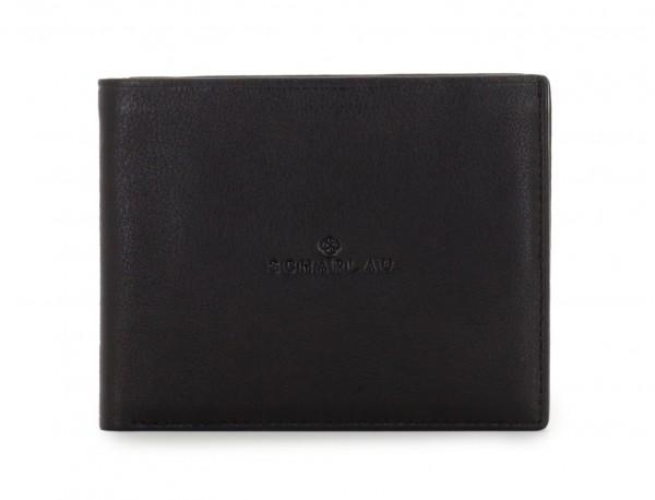 leather wallet for men in black front