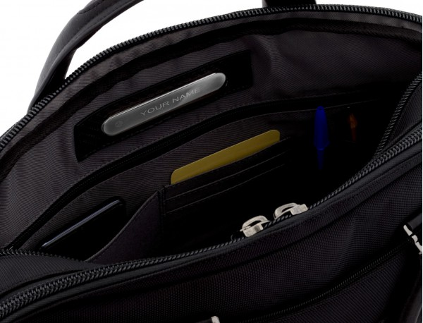 men laptop briefbag beige personalized