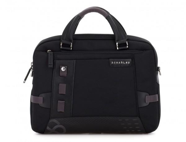 laptop briefbag black front