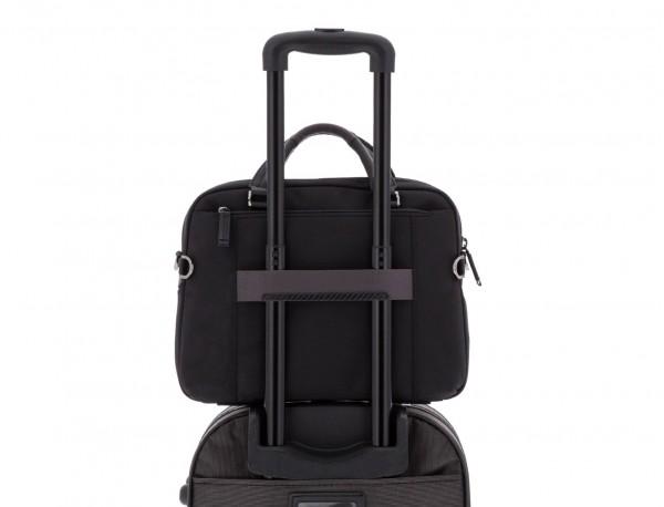 Cartella laptop nera trolley
