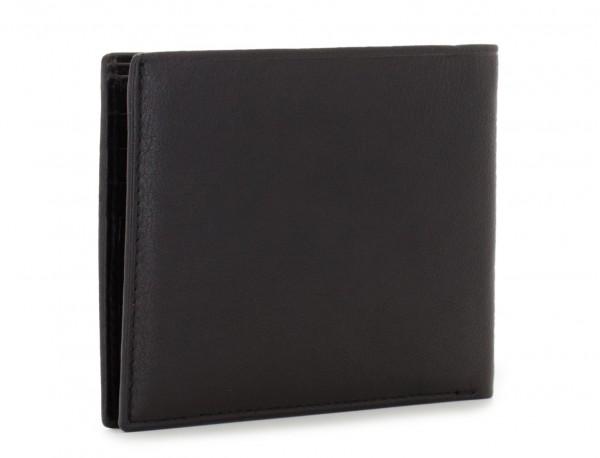 leather wallet for men in black side