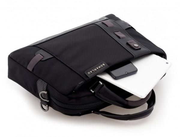 Cartella laptop nera inside