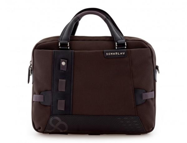 laptop briefbag brown front