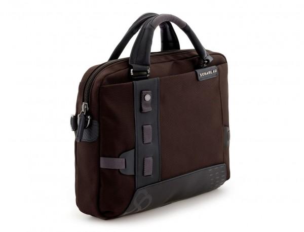 laptop briefbag brown side