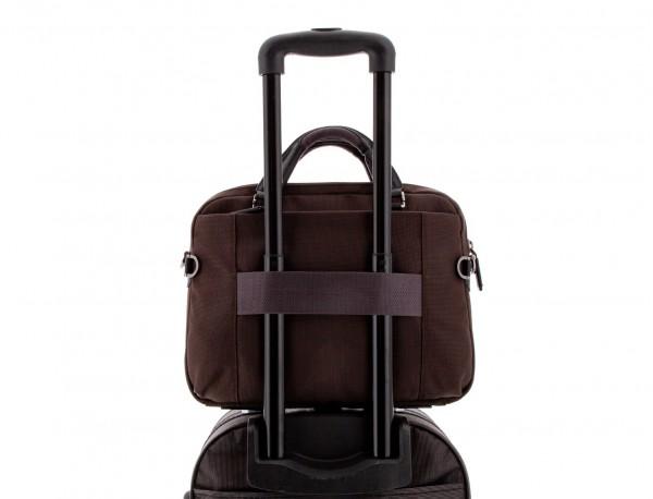 Cartella laptop marrone trolley