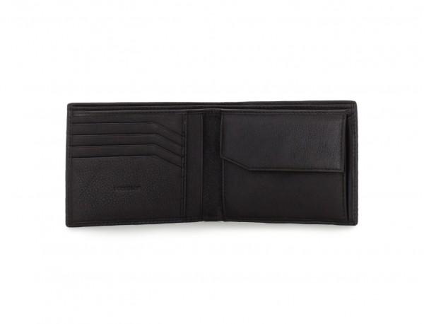 leather wallet for men in black open