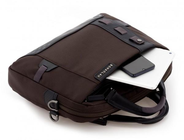 laptop briefbag brown detail