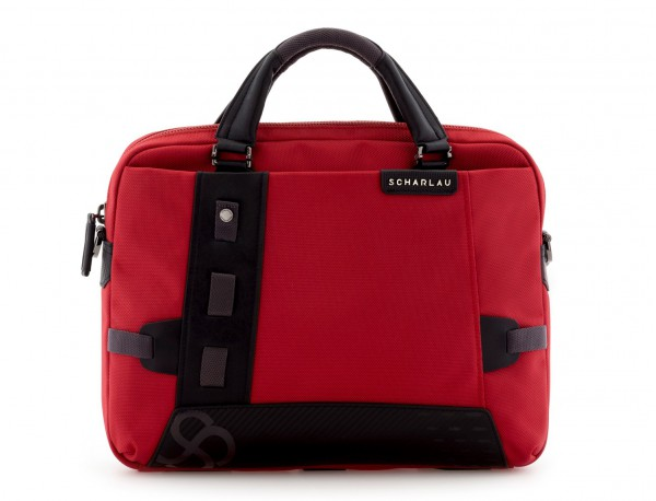 laptop briefbag red front