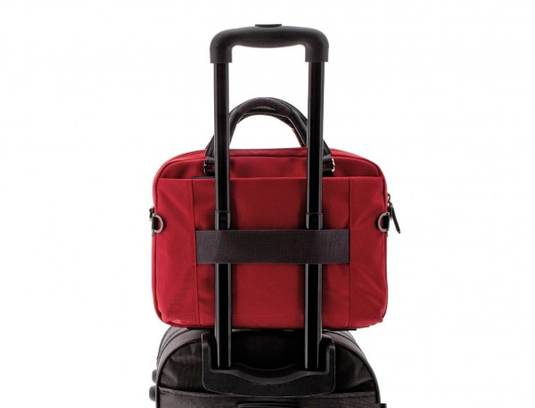 laptop briefbag red trolley