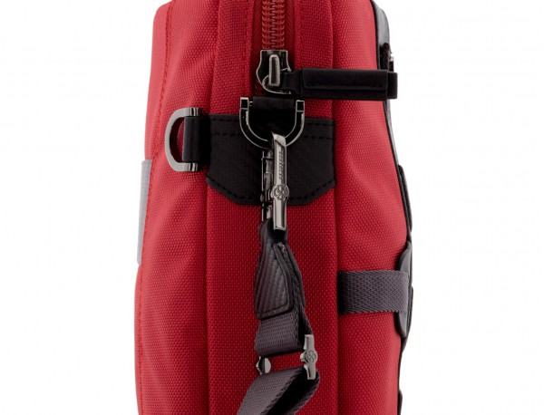 Cartella laptop rosso strap