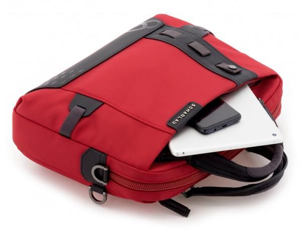 Cartella laptop rosso inside