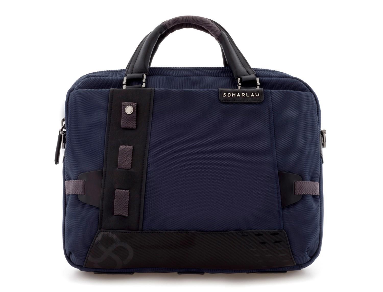 Cartella laptop blu front