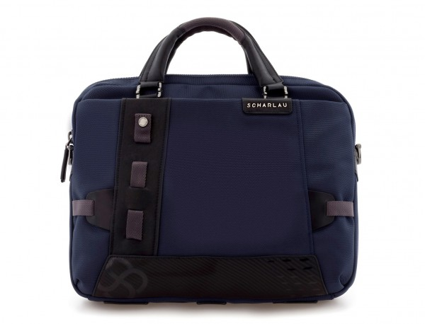 laptop briefbag blue front