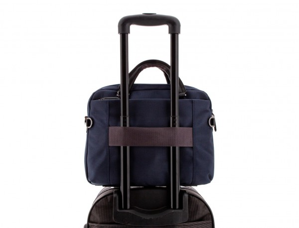 Cartella laptop blu trolley