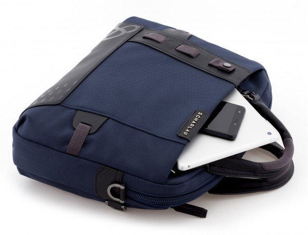 laptop briefbag blue detail
