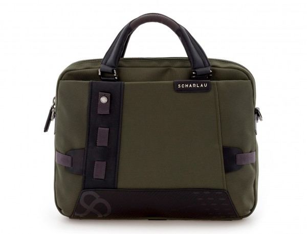 laptop briefbag green front