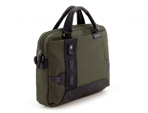 Cartella laptop verde side