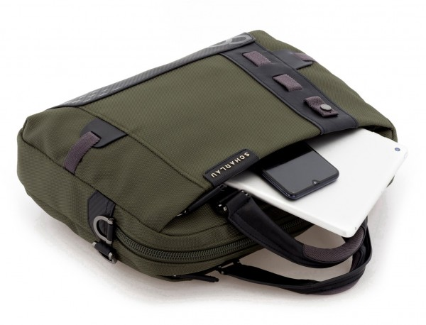 Cartella laptop verde inside