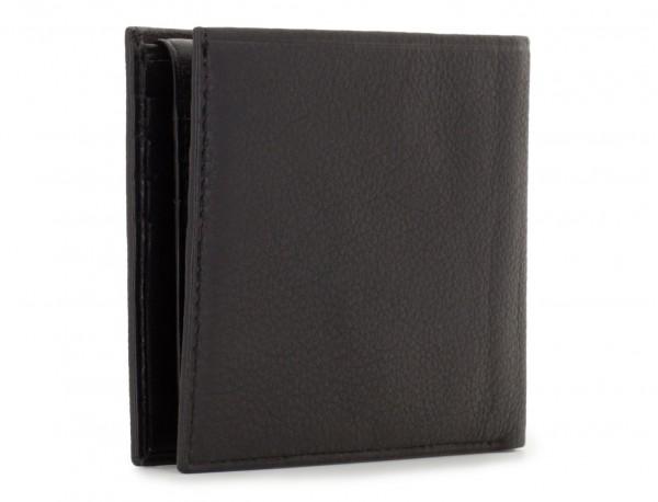 portafoglio in pelle per uomo nero side