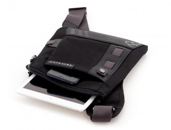 bolso bandolera de hombre negra tablet