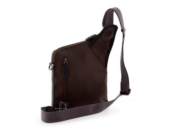bolso bandolera de hombre marrón back