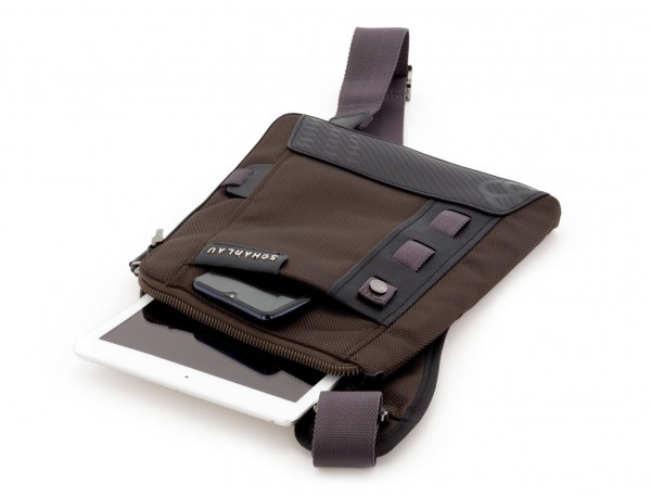 men crossbody brown tablet