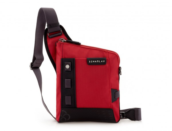 bolso bandolera de hombre roja frontal