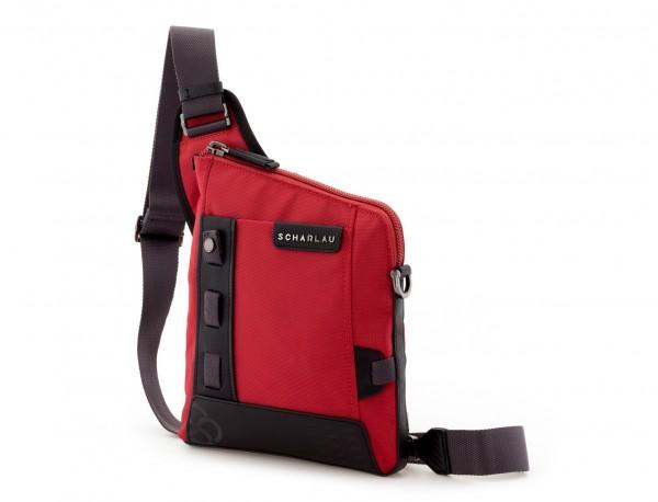 bolso bandolera de hombre roja lado