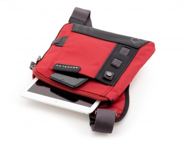 bolso bandolera de hombre roja tablet