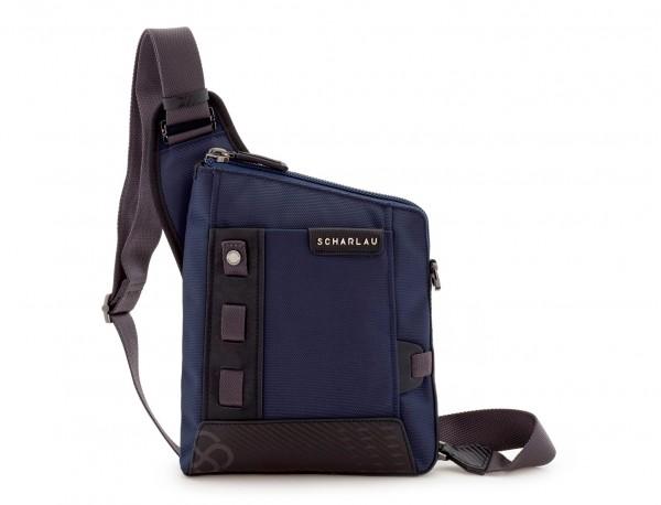bolso bandolera de hombre azul frontal