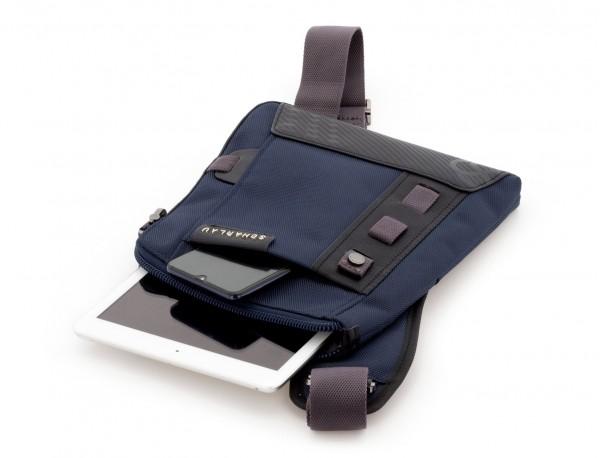 bolso bandolera de hombre azul tablet