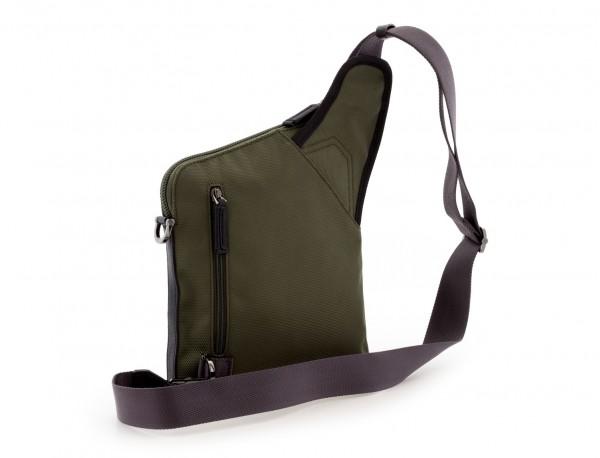 bolso bandolera de hombre verde back
