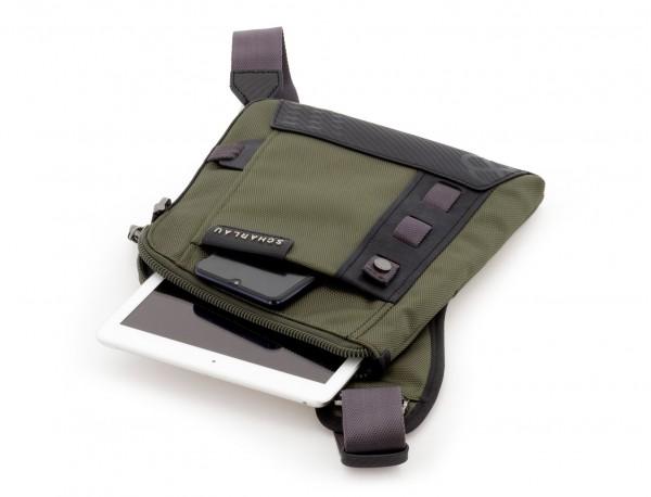 bolso bandolera de hombre verde tablet