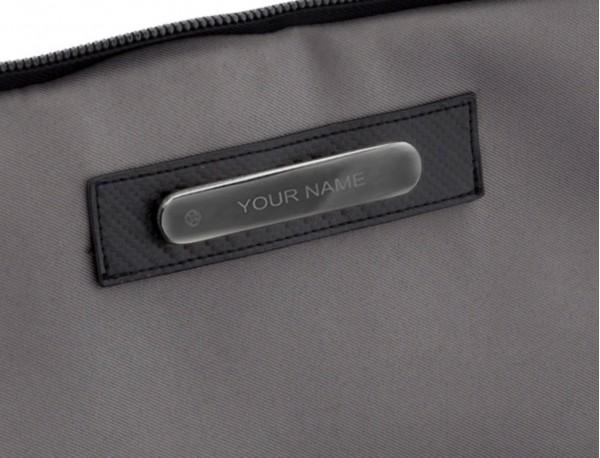bolso bandolera de hombre beige personalizado